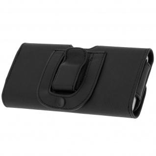 Universal Gürteltasche mit Schlaufe und Clip für Smartphones Größe 3XL - Schwarz
