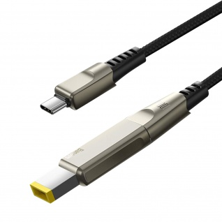 Lenovo USB-C 2-in-1, USB-C / quadratischer Stecker Kabel, Baseus - Schwarz - Vorschau 2