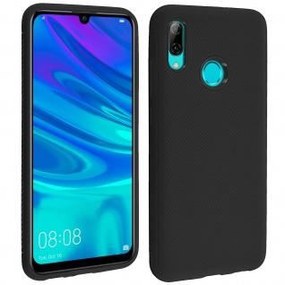 Schutzhülle für Huawei P Smart 2019/ Honor 10 Lite, gummierte Gelhülle - Schwarz