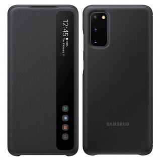 Original Samsung Clear View Cover, Klapphülle für Samsung Galaxy S20 - Schwarz - Vorschau 1