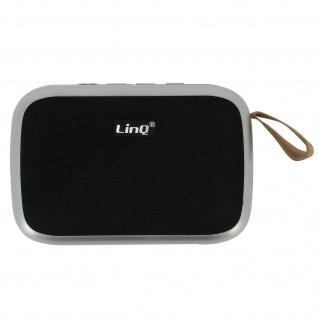 LinQ 4.2 Bluetooth Lautsprecher mit SD-Kartenslot/Micro-USB/FM - Silber