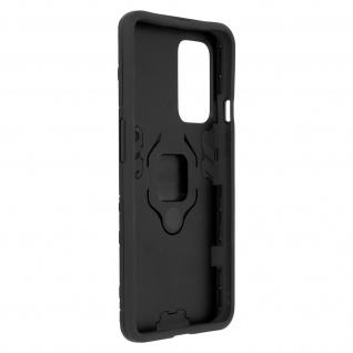 Stoßfeste Handyhülle OnePlus 9 mit Ring-Halterung ? Schwarz