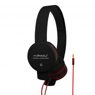 Kabelgebundene Stereo-Kopfhörer 3, 5mm Klinkenkabel Hohe Klangqualität Schwarz