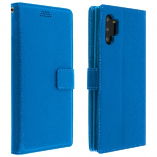 Samsung Galaxy Note 10 Flip-Cover mit Kartenfächern & Standfunktion â€? Blau