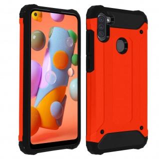 Defender II schockresistente Schutzhülle Samsung Galaxy A11 - Rot
