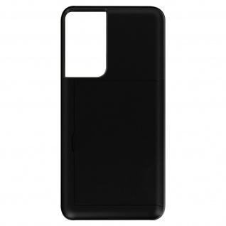 Samsung Galaxy S21 Ultra Defender Hybrid Schutzhülle mit Kartenhalter - Schwarz