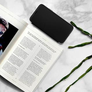 Spiegel Hülle, dünne Klapphülle für Apple iPhone X , Apple iPhone XS - Schwarz - Vorschau 5