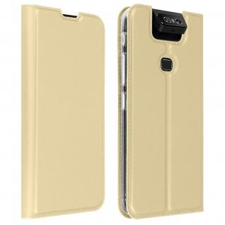 Klappetui mit Kartenfach & Standfunktion Asus ZenFone 6 - Gold