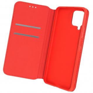 Kunstleder Cover Classic Edition, Klappetui für Samsung A22 ? Rot