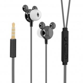 Disney in-ear Kopfhörer mit Fernbedienung, Mickey Maus 3D Design - Schwarz
