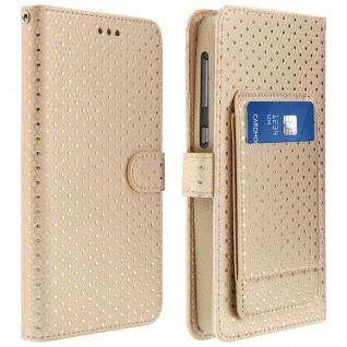 Universal Bookcover für Smartphones Größe 3XL Standfunktion + Spiegel â€? Gold
