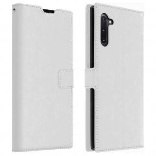 Flip Cover Stand Case Brieftasche & Standfunktion für Galaxy Note 10 - Weiß