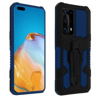 Stoßfeste Handyhülle Huawei P40 Pro, mit Gürtelclip und Ständer - Blau