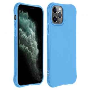 Flexible Apple iPhone 11 Pro Silikon Bumper Hülle, stoßfest - Blau