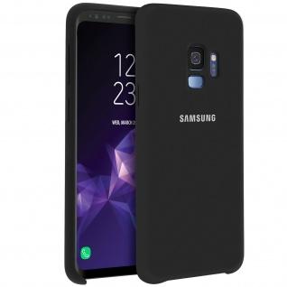 Original Samsung Soft Touch Cover aus Silikon für Samsung Galaxy S9 - Schwarz