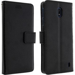 Nokia 1 Plus Flip-Cover mit Kartenfächern & Standfunktion - Schwarz