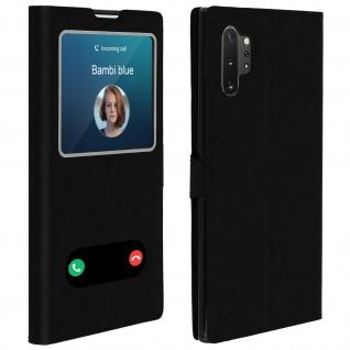 Samsung Galaxy Note 10 Plus Flip Cover Doppelfenster & Standfunktion � Schwarz
