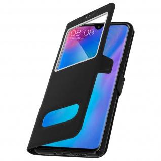 Huawei P30 Pro Flip Cover Doppelfenster & Standfunktion - Schwarz - Vorschau 2