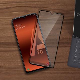 9H Härtegrad kratzfeste Glas-Displayschutzfolie für Galaxy A70 - Schwarz - Vorschau 4