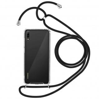 Handykette Handyhülle mit Halsband für Huawei Y6 2019 - Schwarz