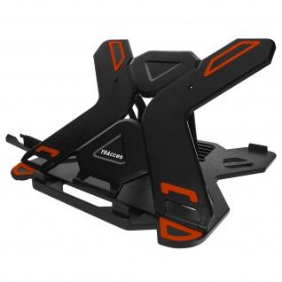 Laptop- / Tablet Ständer mit verstellbarem Winkel - Schwarz / Orange