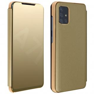 Mirror Klapphülle, Spiegelhülle für Samsung Galaxy A71 - Gold