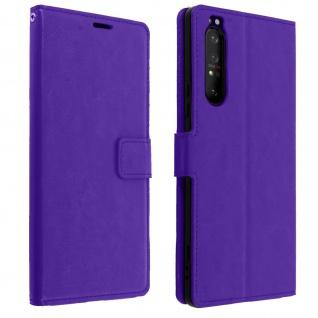 Flip Stand Case Brieftasche & Standfunktion für Sony Xperia 1 II - Violett