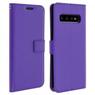 Flip Stand Cover Brieftasche & Standfunktion für Galaxy S10 Plus - Violett