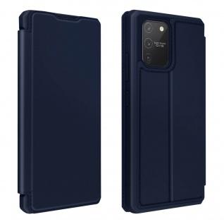Samsung Galaxy S10 Lite Kunstleder Klapphülle mit Kartenfach â€? Dunkelblau
