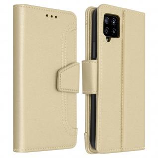 Samsung Galaxy A42 5G Klapphülle mit Portemonnaie - Gold