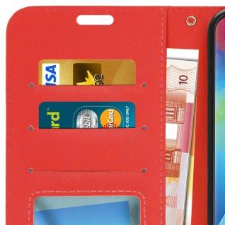 Flip Stand Cover Brieftasche & Standfunktion für Samsung Galaxy M20 - Rot - Vorschau 5