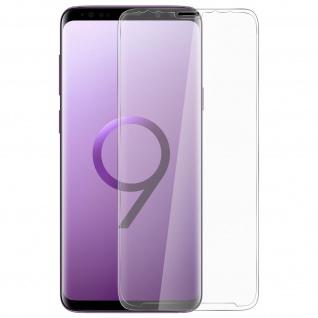 5D Full Cover Displayschutzfolie aus Glas Samsung Galaxy S9 Plus - Transparent