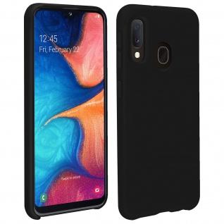 Halbsteife Silikon Handyhülle Samsung Galaxy A20e, Soft Touch - Schwarz
