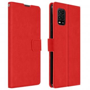 Flip Stand Case Brieftasche & Standfunktion für Xiaomi Mi 10 Lite ? Rot