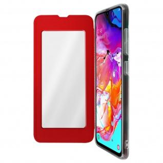 Spiegel Hülle, dünne Klapphülle für Samsung Galaxy A70 - Rot