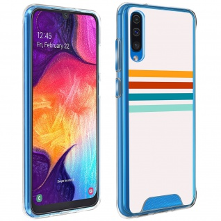 Handyhülle für Galaxy A50 / A30s, Made in France ? Stripes Design