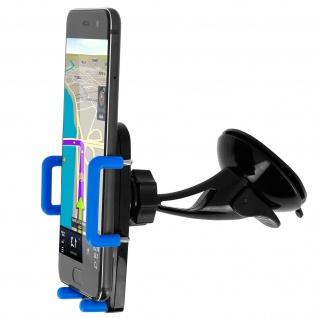 Kfz-Halterung für Smartphones Saugnapf + Lüftungshalterung - Blau - Vorschau 3