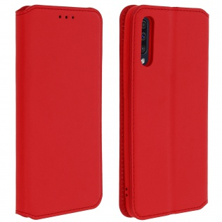 Kunstleder Cover Classic Edition Samsung Galaxy A50 - Rot