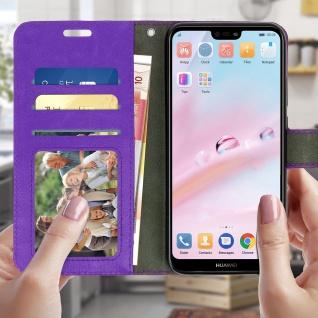 Flip Cover Stand Case Brieftasche & Standfunktion für Huawei P20 Lite - Violett - Vorschau 2