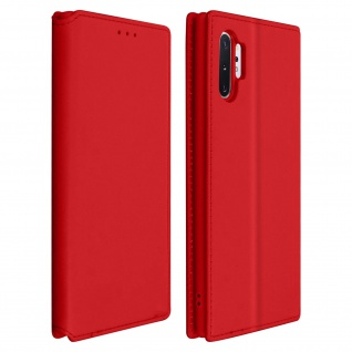 Kunstleder Cover Classic Edition Samsung Galaxy Note 10 Plus - Rot