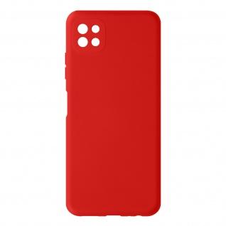 Halbsteife Silikon Handyhülle für Samsung Galaxy A22 5G, Soft Touch ? Rot