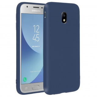 Forcell Samsung Galaxy J3 2017 Soft Touch Silikonhülle, soft case - Dunkelblau