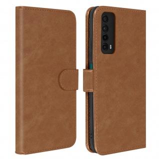 Flip Cover Geldbörse, Etui Kunstleder für Huawei P smart 2021 ? Braun