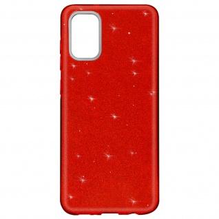 Schutzhülle, Glitter Case für Samsung Galaxy A02s â€? Rot