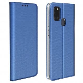 Wallet Cover für Samsung Galaxy A21s, Kartenfach und Ständer ? Dunkelblau