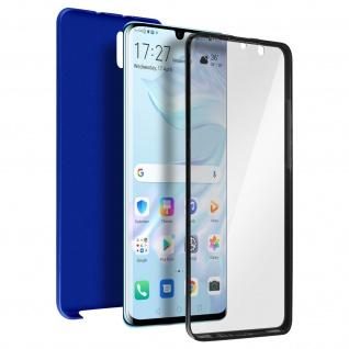 Schutzhülle für Huawei P30 Pro, Vorder- + Rückseite ? Blau