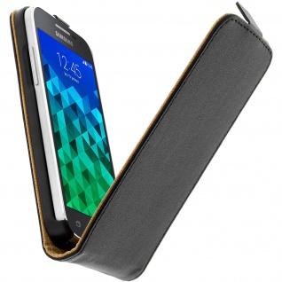 Vertikale Flip-Schutzhülle ultradünn für Samsung Galaxy Core Prime - Schwarz