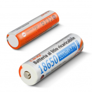 2 x 18650 Lithium 3200mAh 3, 7V Wiederaufladbare Batterien, 3200JT LinQ