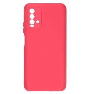 Halbsteife Silikon Handyhülle für Xiaomi Redmi 9T, Soft Touch ? Fuchsienrot
