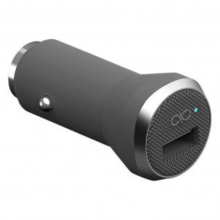 Force Power Zigaretten-Anzünder KFZ-Ladegerät 2.4A + USB Typ-C Kabel 1.2m - Grau
